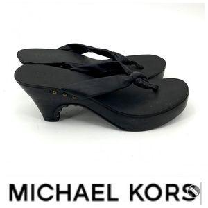 💕SALE💕 Michael Kors Black Wedge Sandals